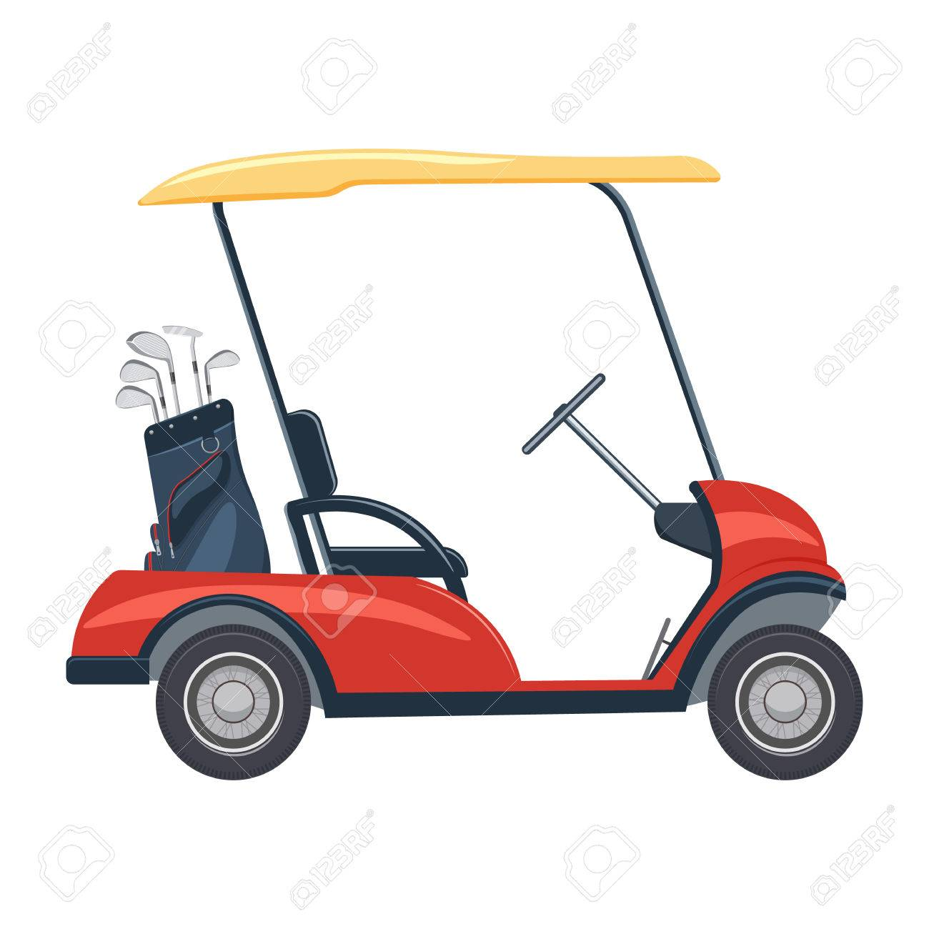 Red Golf Cart Art on red shopping cart, red push cart, red golf card,