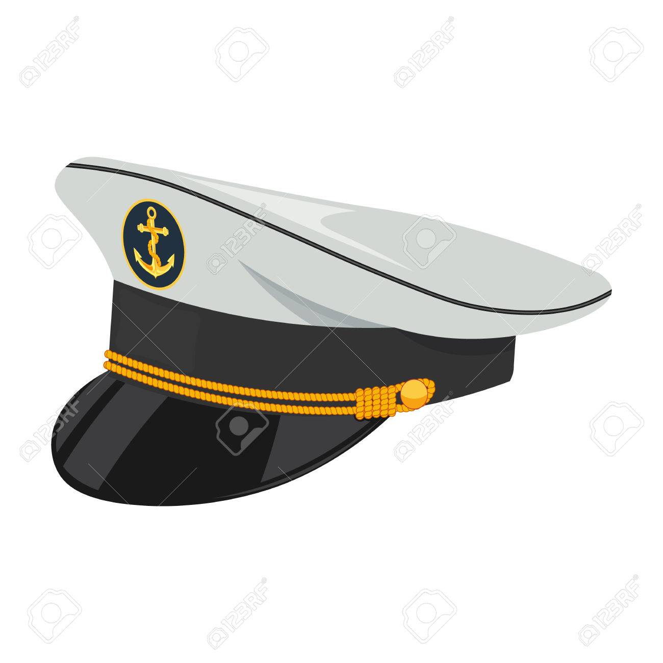 a0b68419478 Captain hat vector illustration isolated on a white background Stock Vector  - 58591592