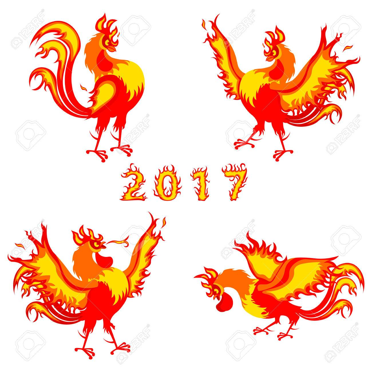 Fire rooster symbol of 2017 on the chinese calendar illustration fire rooster symbol of 2017 on the chinese calendar illustration isolated on a white background biocorpaavc