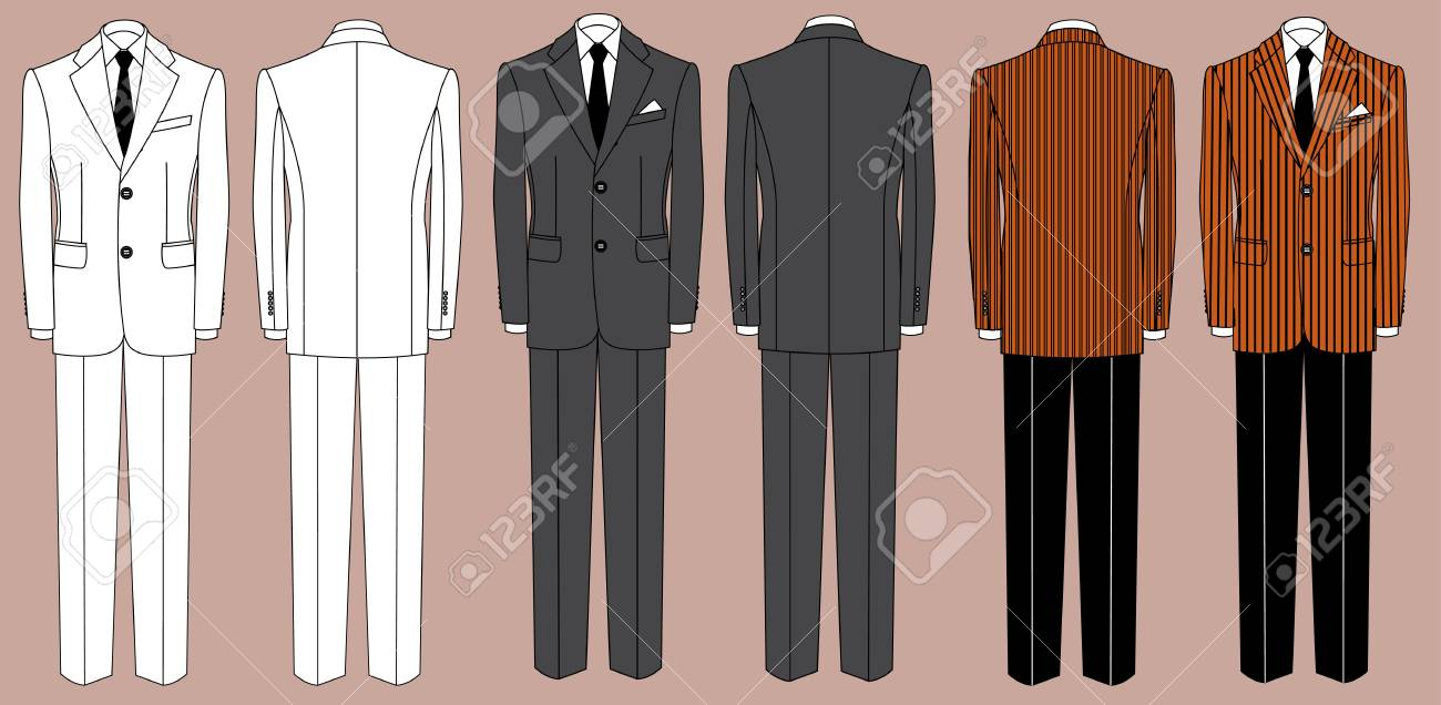 business suit for man isolated for design Stock Vector - 18639050