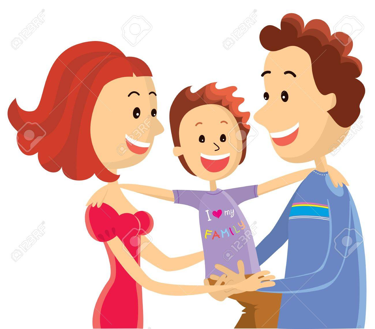 Happy family.color illustration Stock Vector - 18638752