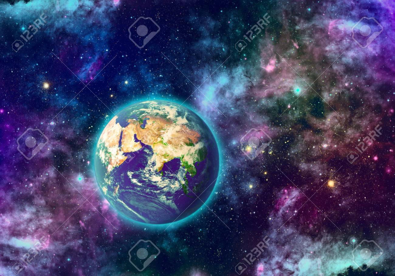 Planet Earth And Galaxy Of Different Colors Stock Photo Picture And Royalty Free Image Image 23296661