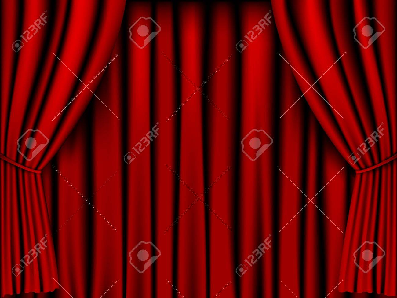 Red Curtain Vector For Background Stock Vector   18183738