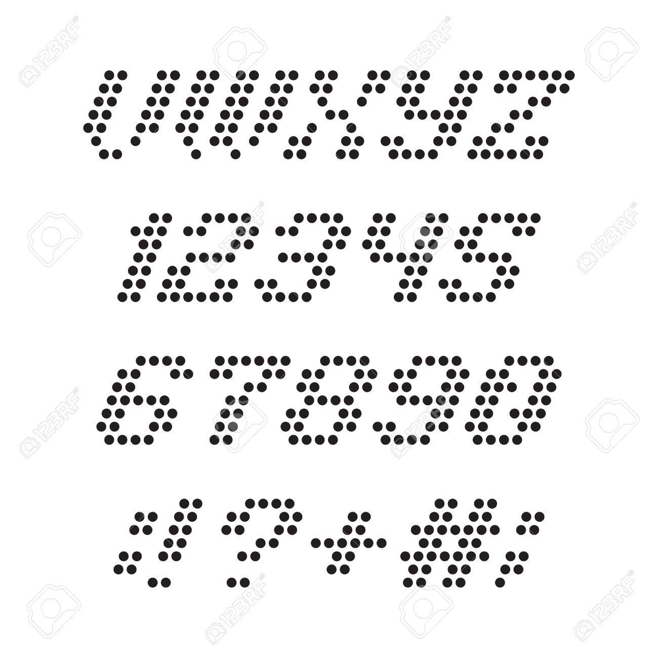 ドット アルファベット