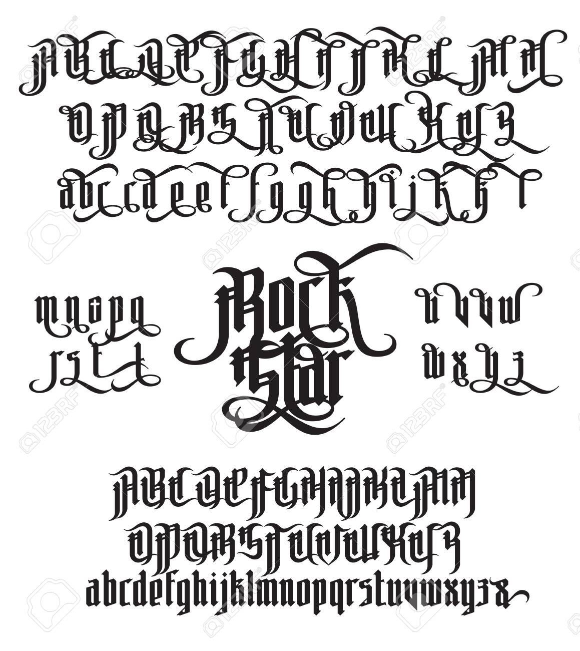 Rock Star modern gothic Style Font. - 79081179