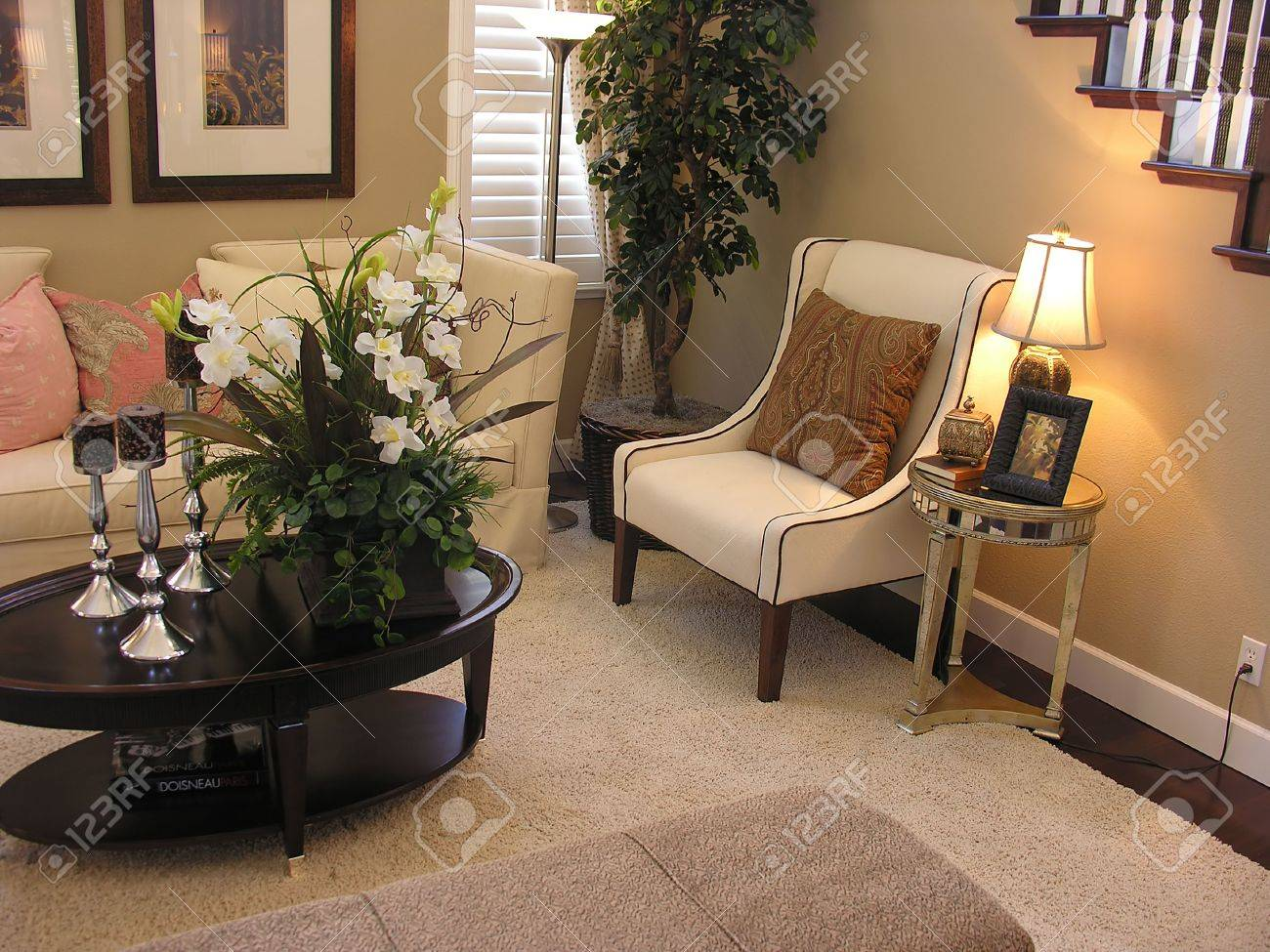 . An old fashioned living room interior
