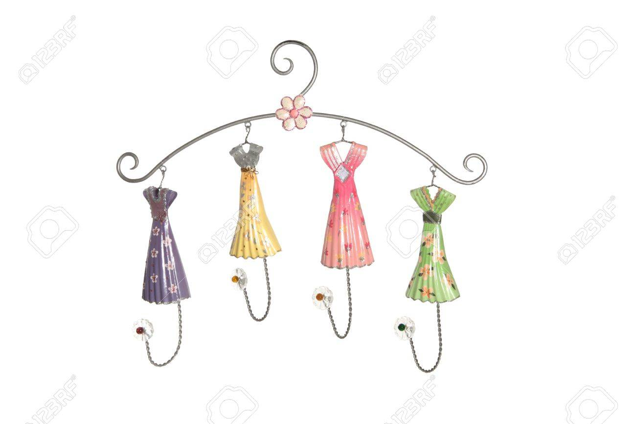 A cute and colorful girls clothes hanger Stock Photo - 657377