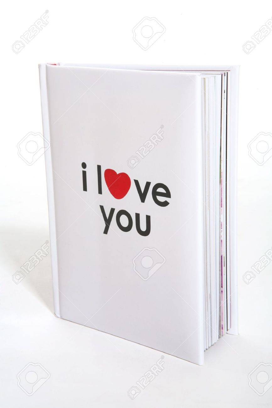 A small book with I Love You printed on the cover Stock Photo - 782415