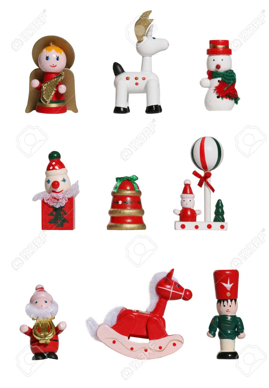 Nine colorful Christmas icons isolated over white Stock Photo - 938880