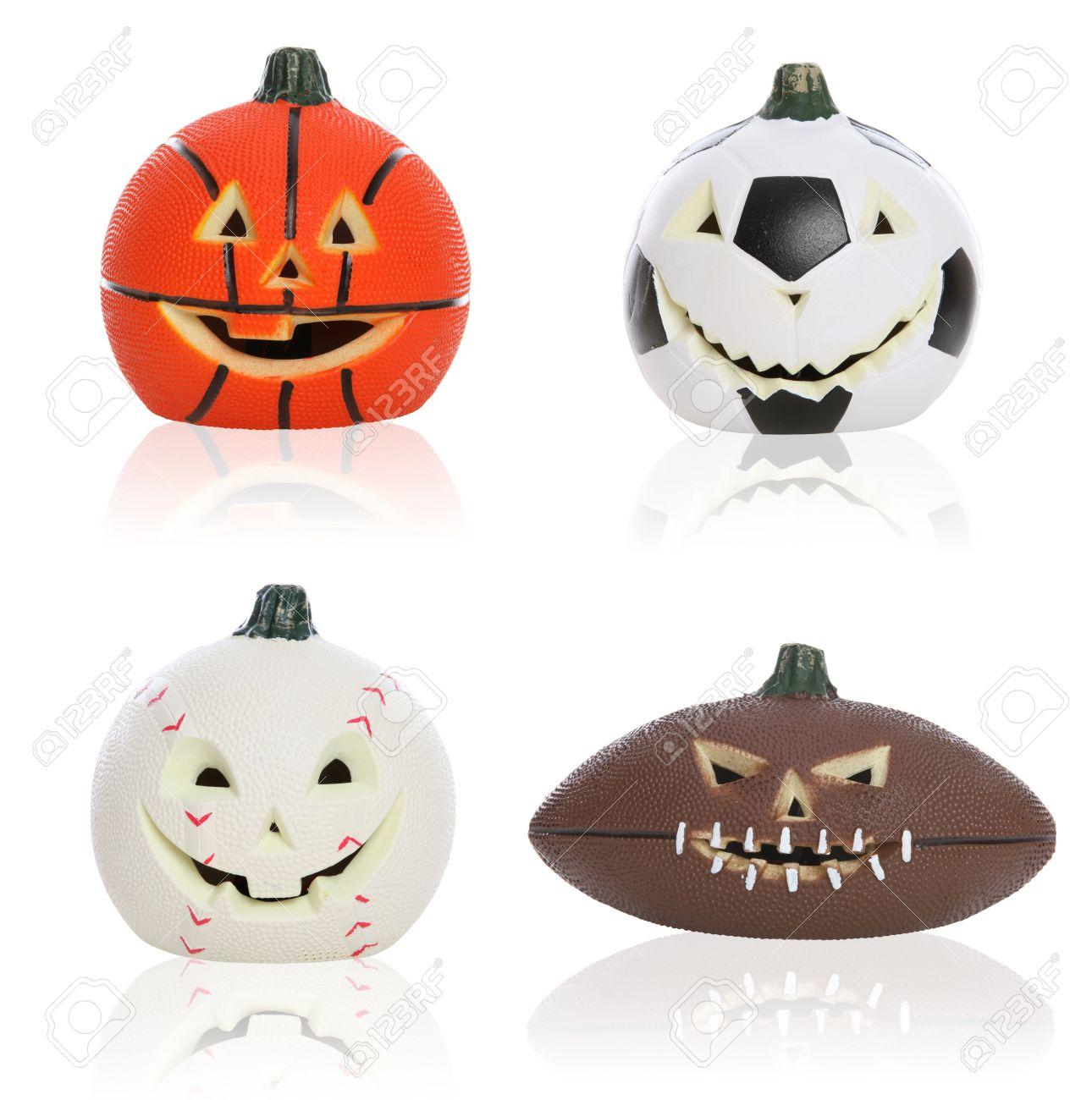 Pallone Calcio, Basket, Football E Baseball Sport Zucche Di ...
