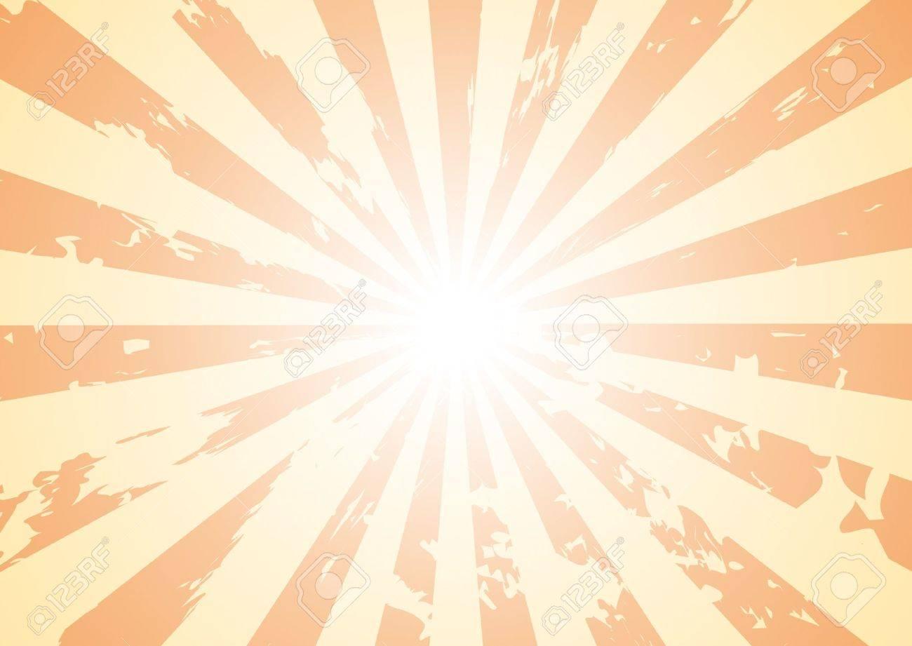 Basic Sunburst Background With Grunge Added To It. Royalty Free ...