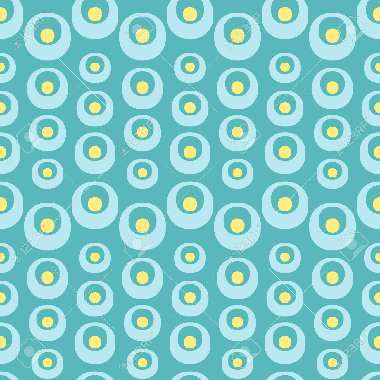 Abstract seamless geometric background with different organic forms. Vector minimalistic ornament for fabric, web page background, wallpaper, wrapping paper etc. In EPS - 113715562