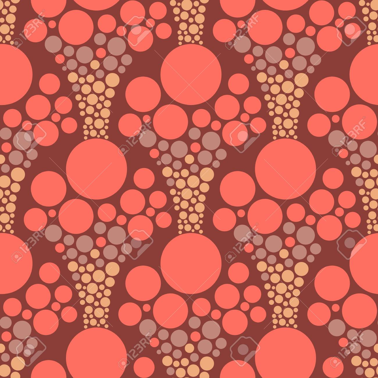 Abstract seamless geometric background with different organic forms. Vector minimalistic ornament for fabric, web page background, wallpaper, wrapping paper etc. In EPS - 115537250