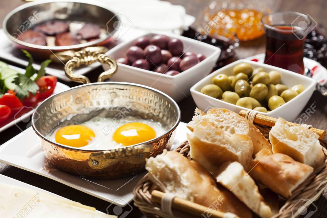 Travel Konzept Einrichtung Mit Traditionellen Türkischen Frühstück