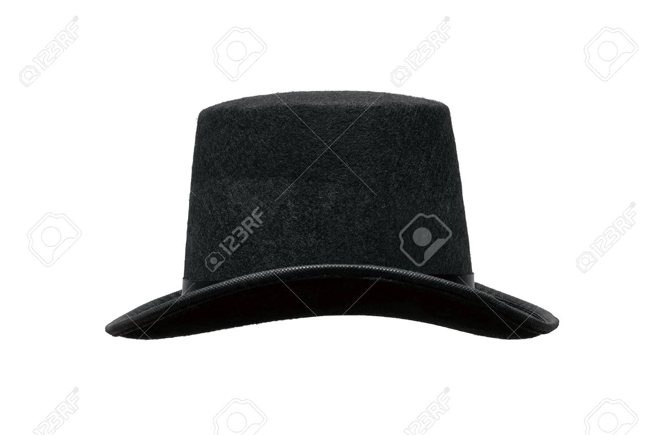 c220711bd57 Black bowler hat isolated on white background. Stock Photo - 111131144