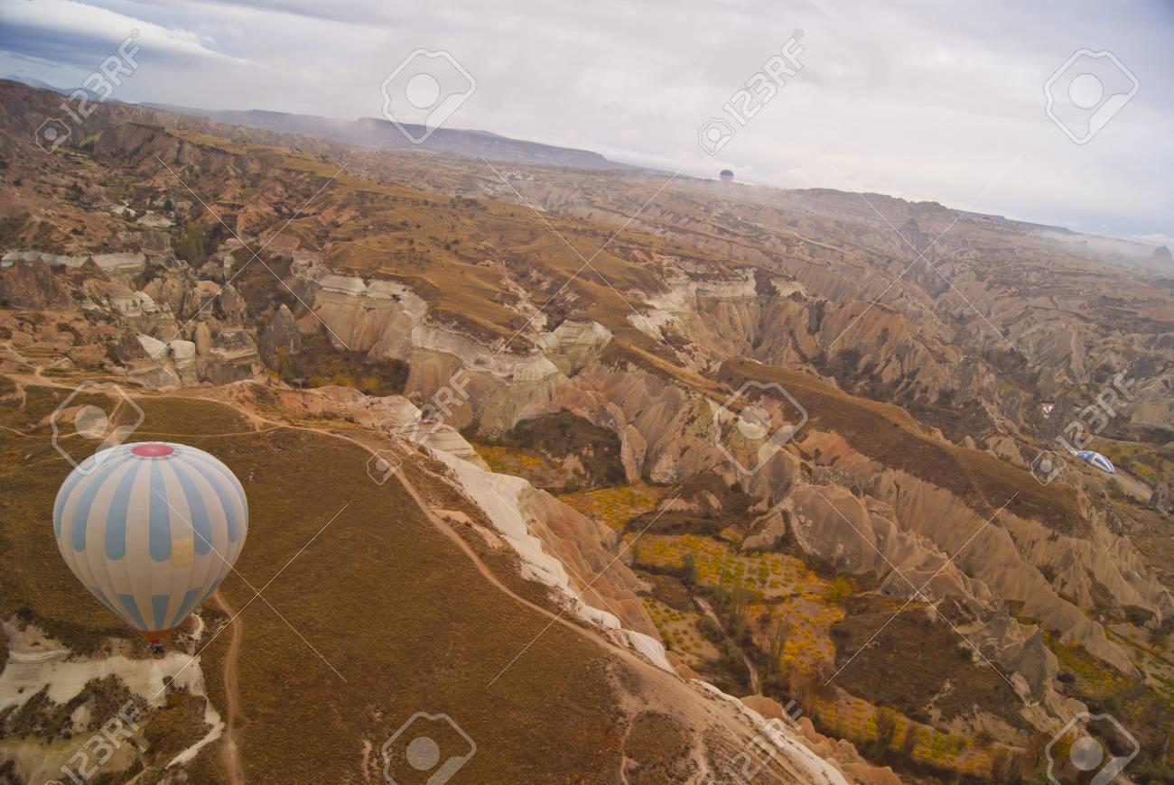 a hot air balloon in Cappadocia in the sky Stock Photo - 17024082