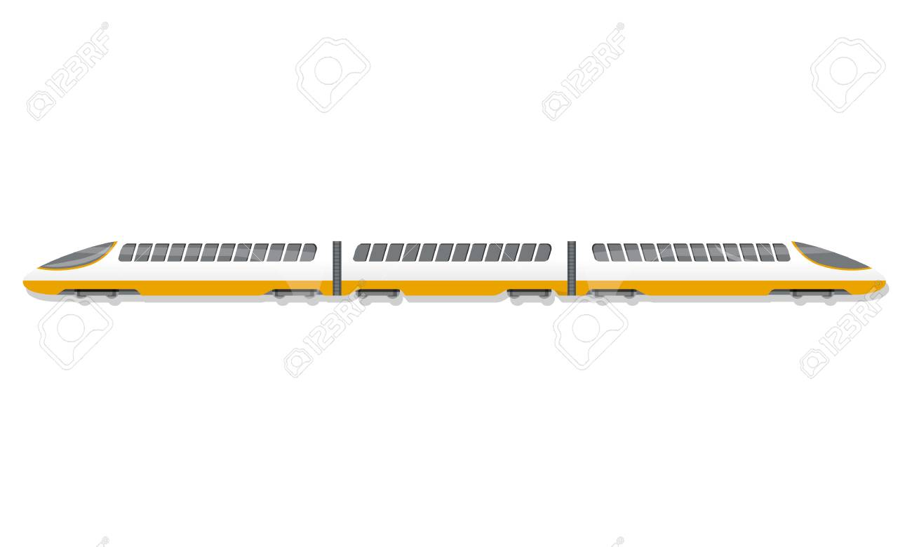 High speed train icon. Cartoon of high speed train vector icon for web design isolated on white background - 111111099