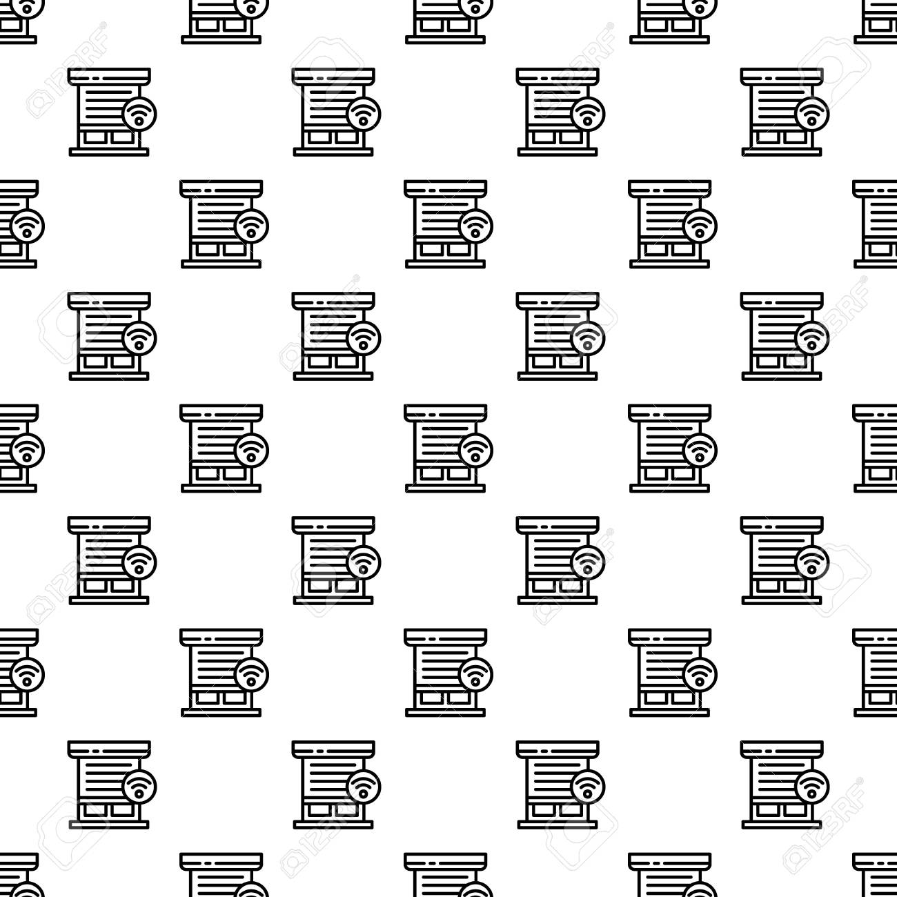 Smart louver pattern seamless repeat background for any web design - 111231461