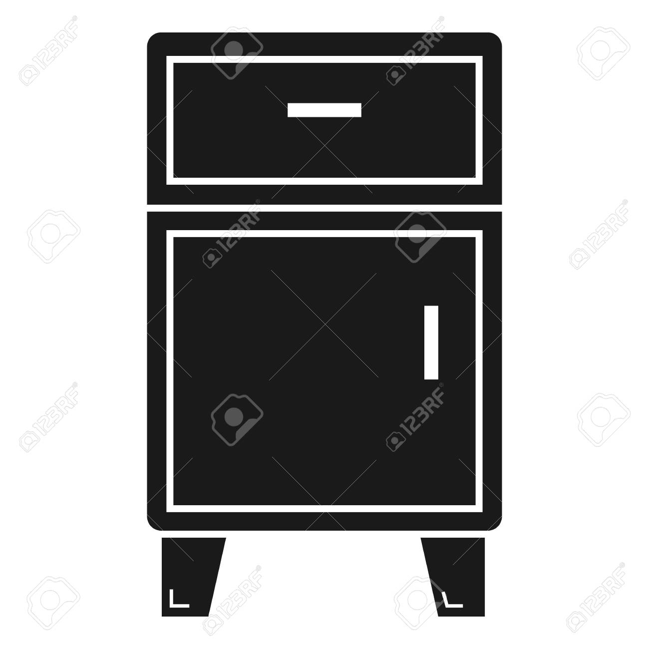 Modern Nightstand Icon Simple Illustration Of Modern Nightstand