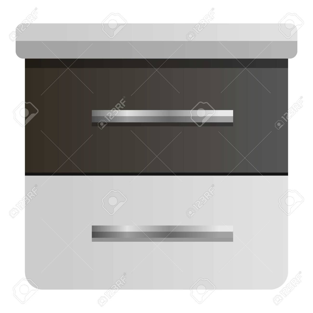 Modern Nightstand Icon Cartoon Of Modern Nightstand Vector Icon