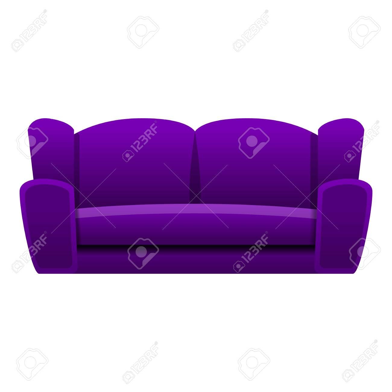 Magnificent Purple Sofa Icon Cartoon Of Purple Sofa Icon For Web Design Bralicious Painted Fabric Chair Ideas Braliciousco