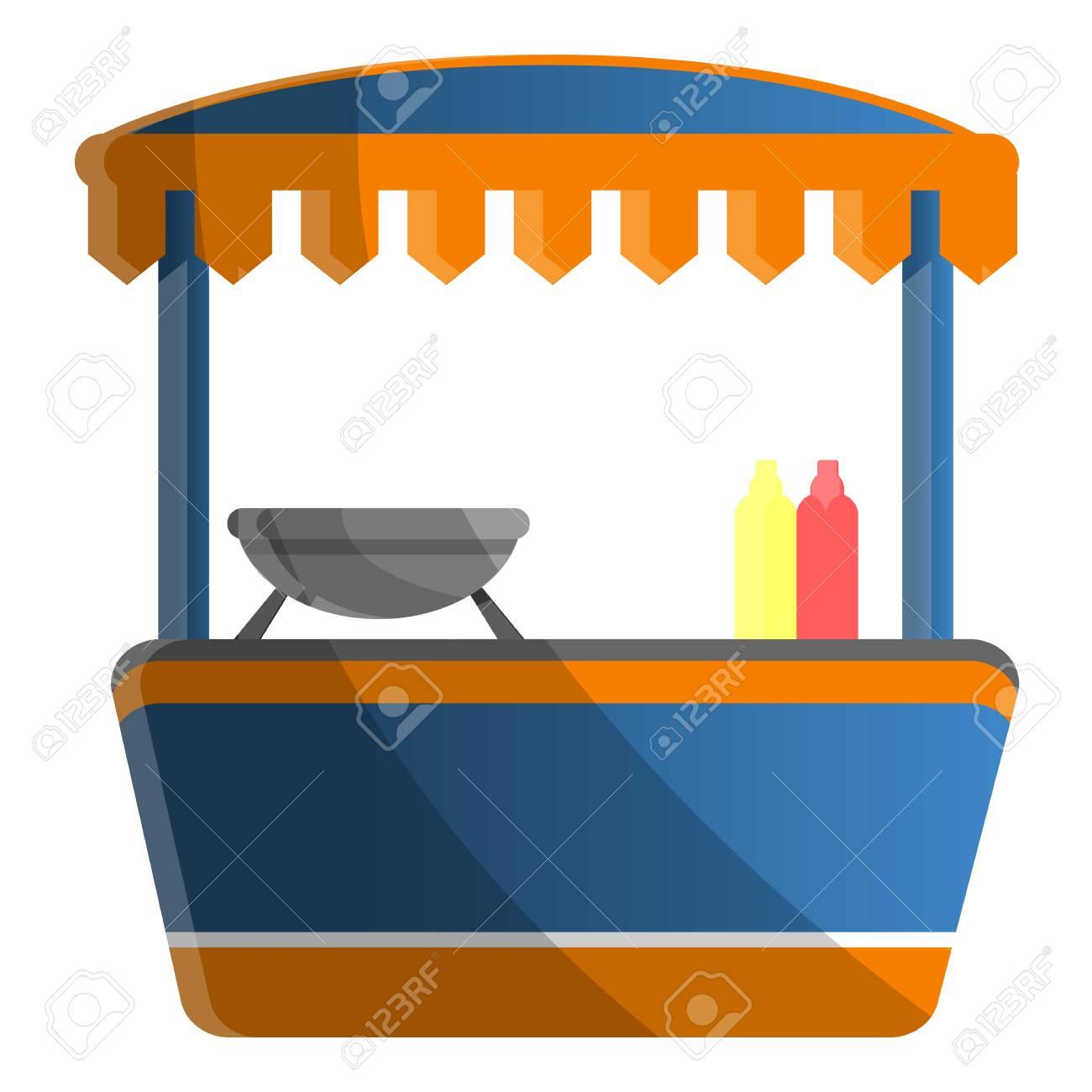 Hot dog kiosk icon  Cartoon of hot dog kiosk icon for web design