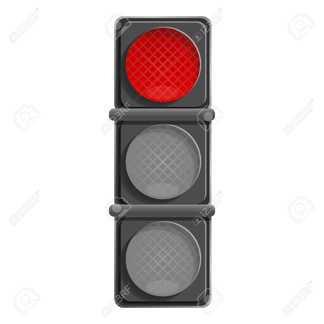 City red traffic light icon. Cartoon of city red traffic light vector icon for web design isolated on white background - 126293102