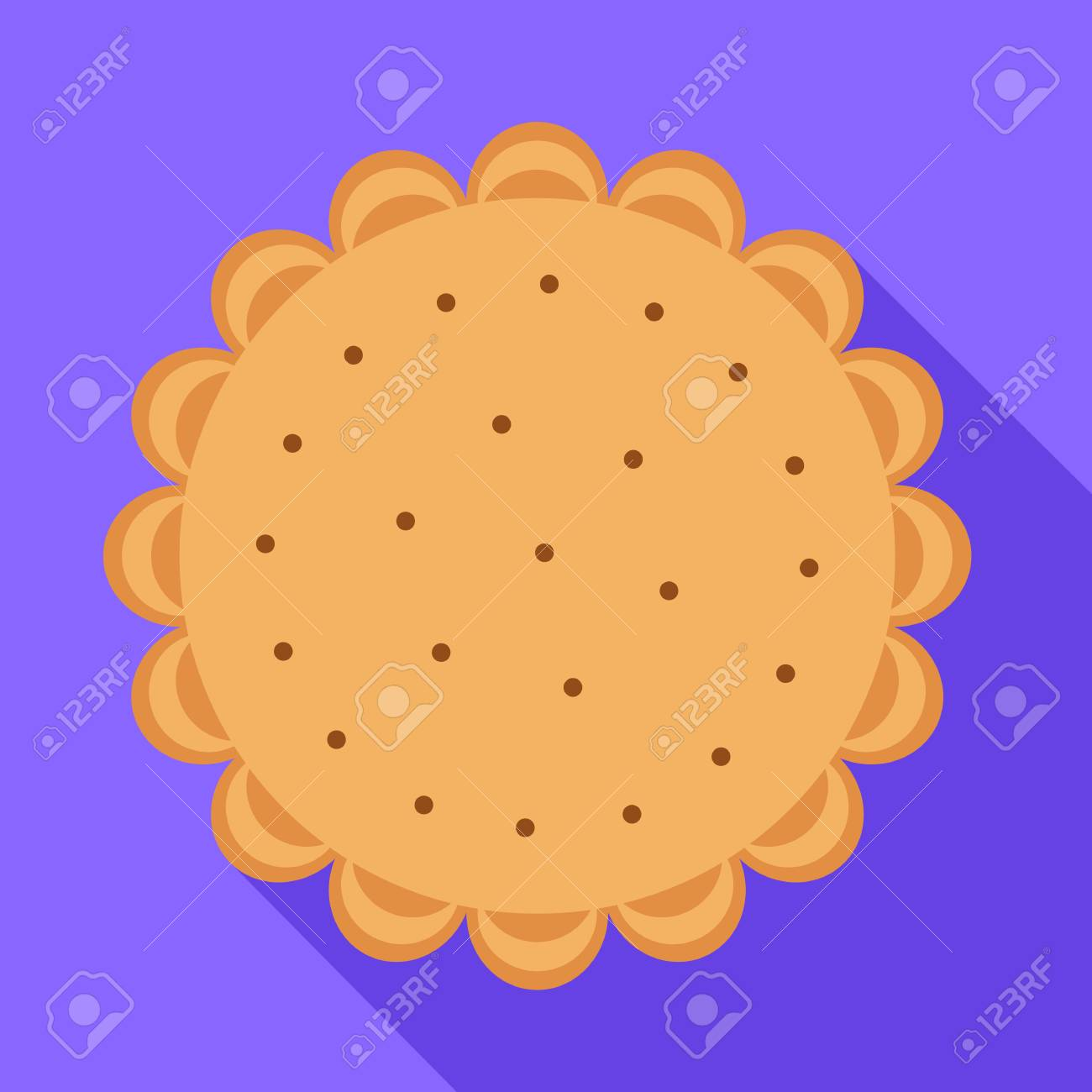 biscuit icon flat illustration of biscuit vector icon for web royalty free cliparts vectors and stock illustration image 125861638 123rf com