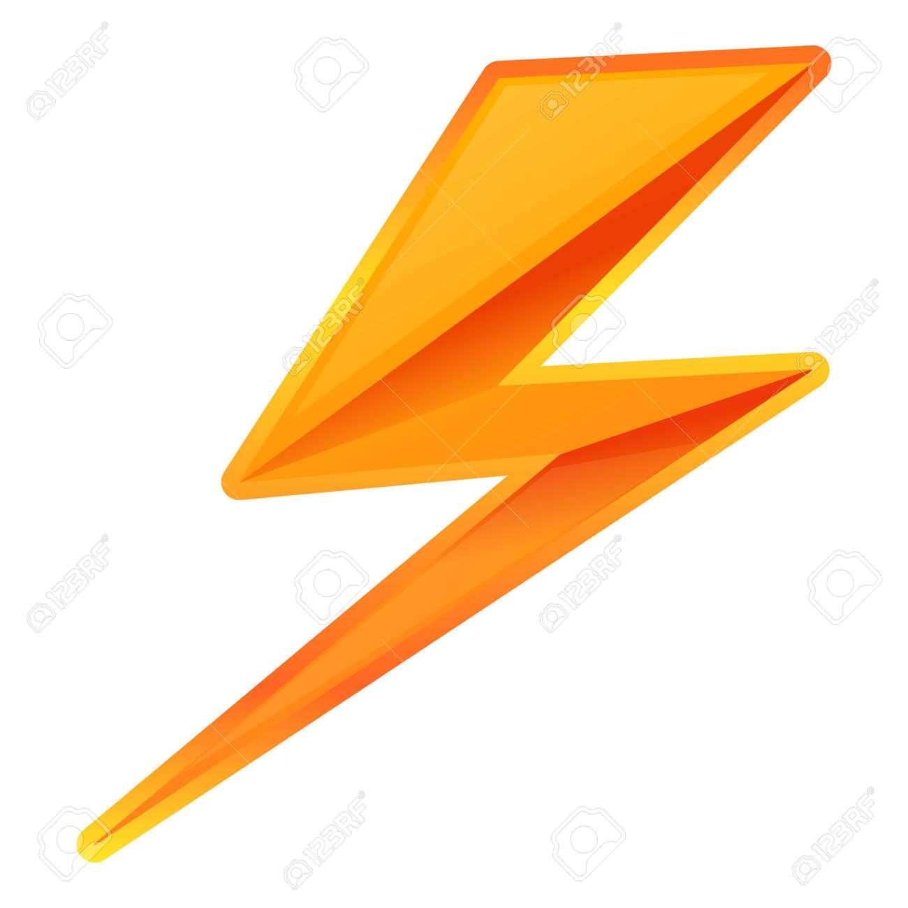 Zigzag lightning bolt icon. Cartoon of zigzag lightning bolt vector icon for web design isolated on white background - 126619611