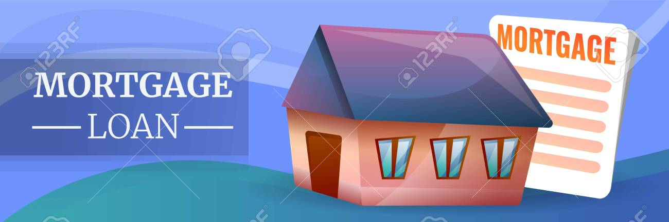 Mortgage Loan Concept Banner Cartoon Illustration Of Mortgage Stock Photo Picture And Royalty Free Image Image 127707489