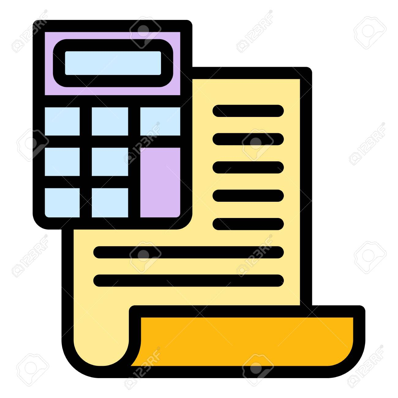 Finance calculator report icon. Outline finance calculator report vector icon for web design isolated on white background - 146956824