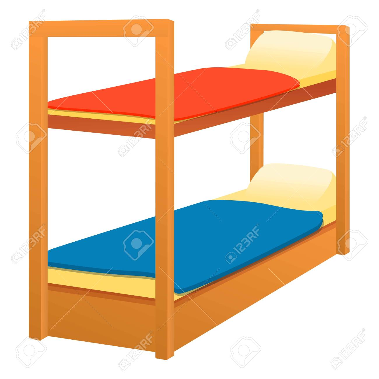Picture of: Double Bunk Bed Icon Cartoon Of Double Bunk Bed Vector Icon Royalty Free Cliparts Vectors And Stock Illustration Image 148706660