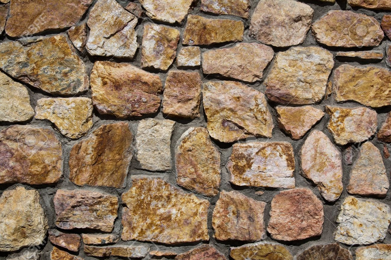 stone wall at the genereal patton museum california stock photo