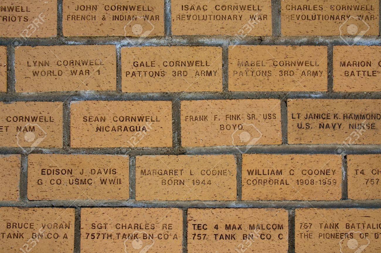 Memorial wall at General Patton Museum, California. Stock Photo - 14987033