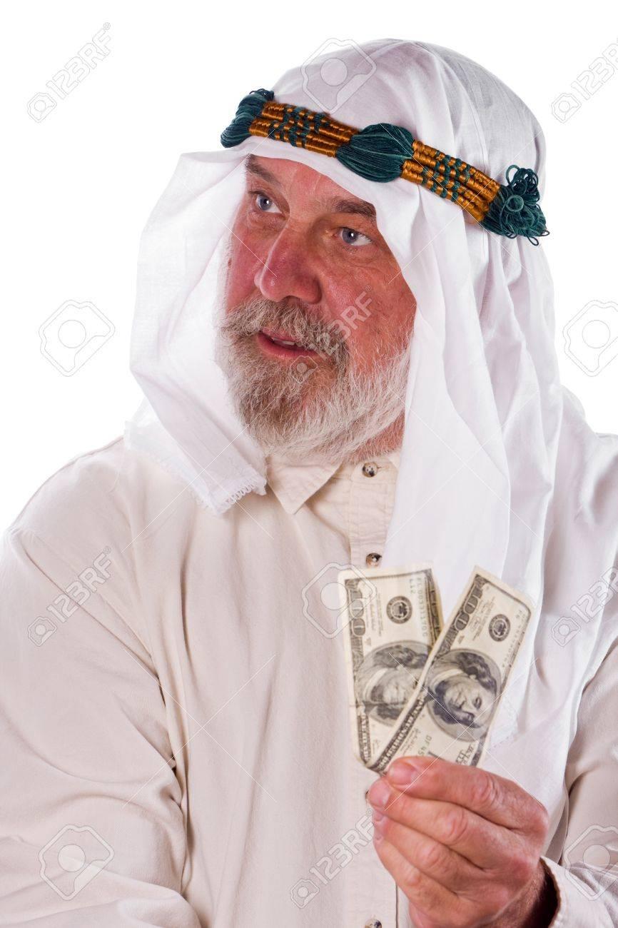 Fotografico Più Anziano Cento Tradizionali In Abiti Dollari Arabi Da Archivio Uomo Regge Banconote shQxCtrd