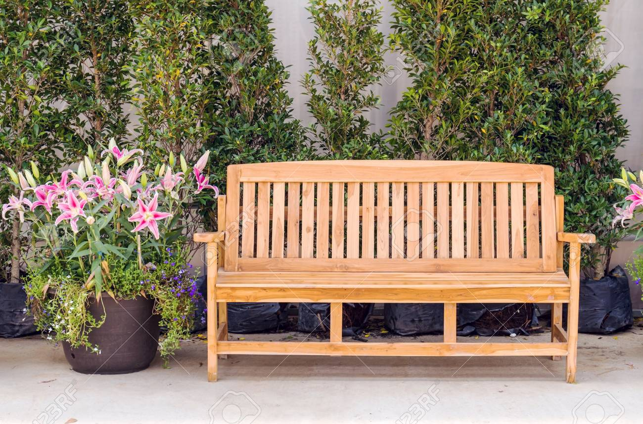 Awe Inspiring Decor Wood Bench Setting In Flower Greenhouse Alphanode Cool Chair Designs And Ideas Alphanodeonline