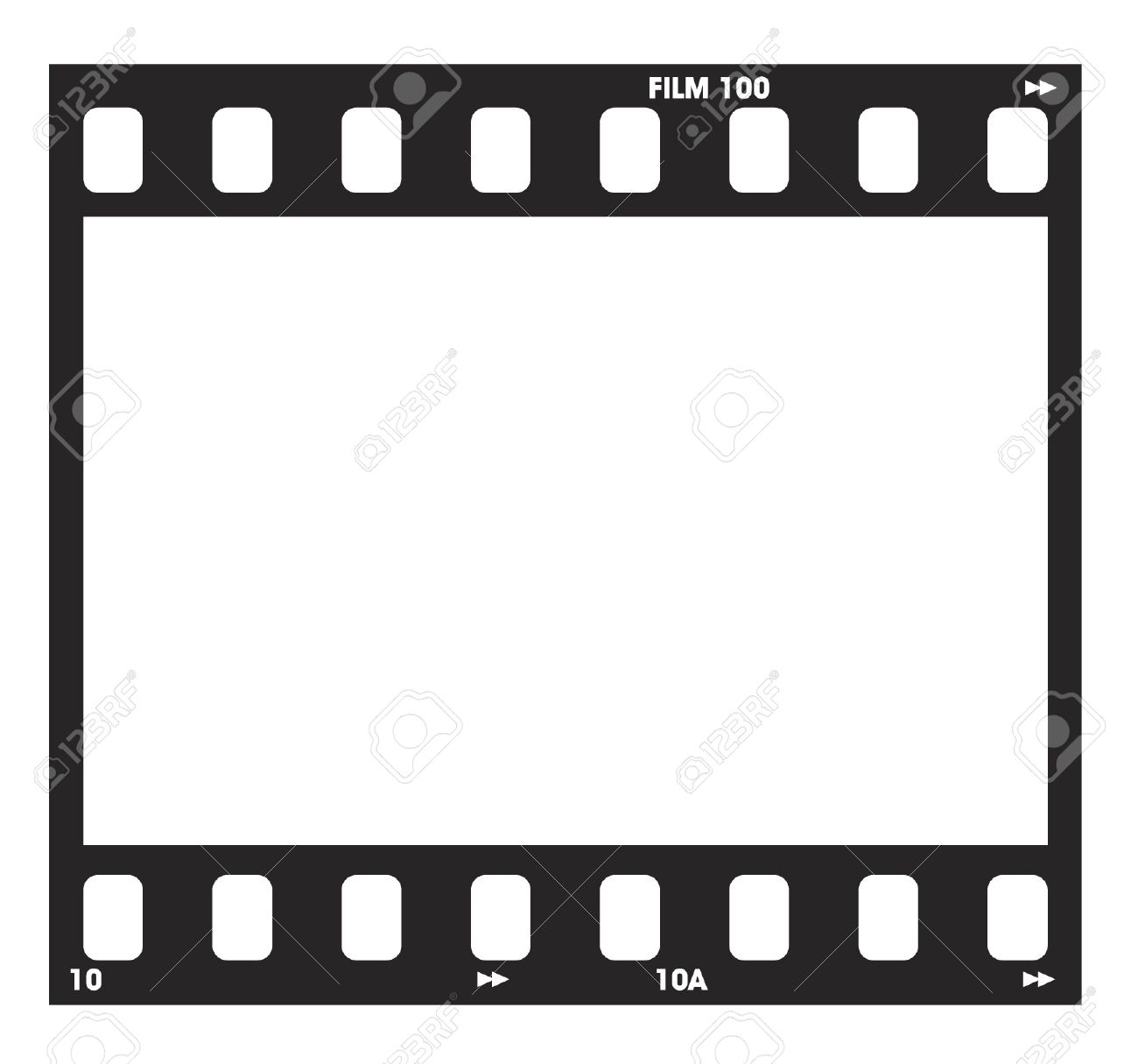 Photo Negitive Filmstrip With Frame Numbers And Code Royalty Free ...