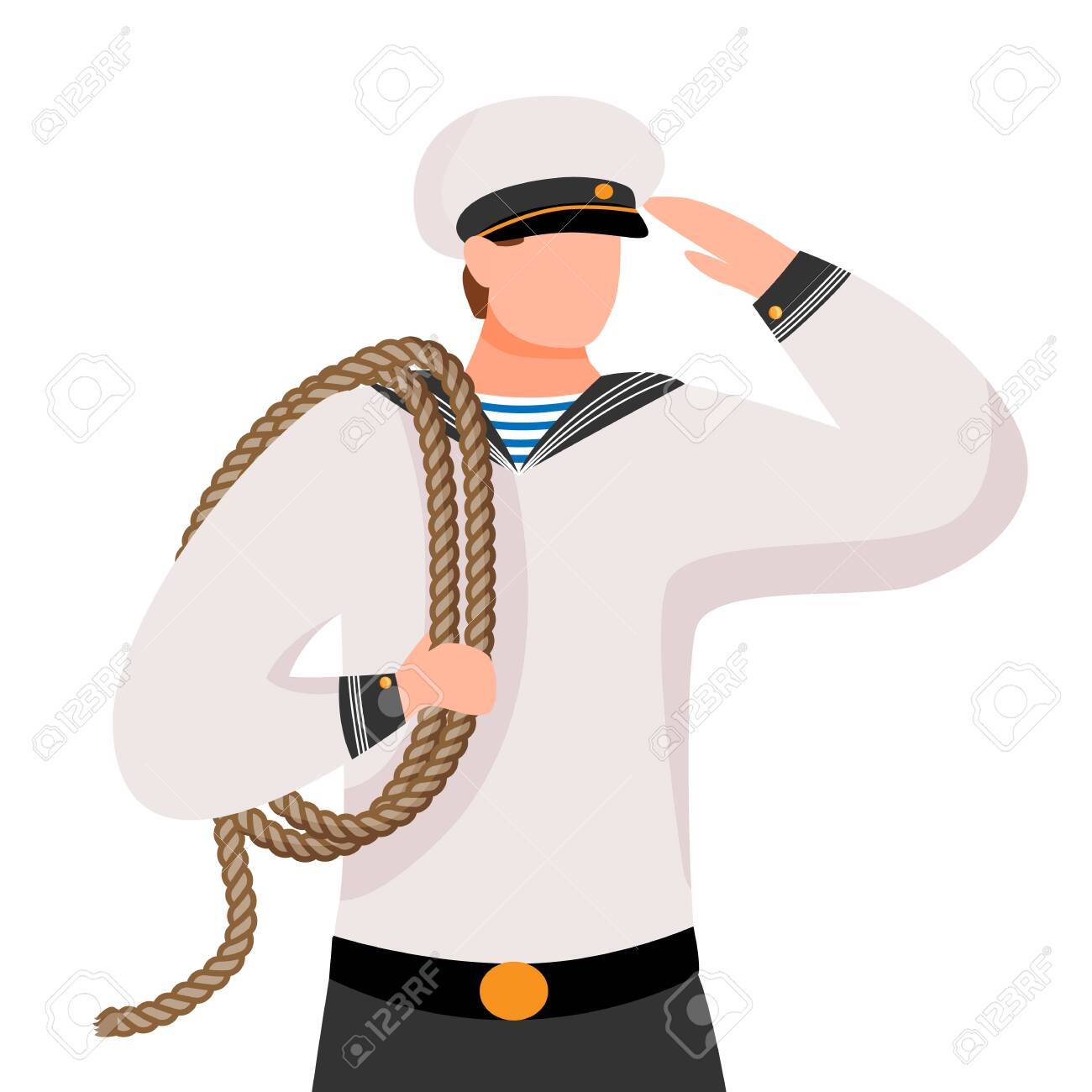 Cute Sailor In Uniform Royalty Free Cliparts, Vectors, And Stock  Illustration. Image 4997832.