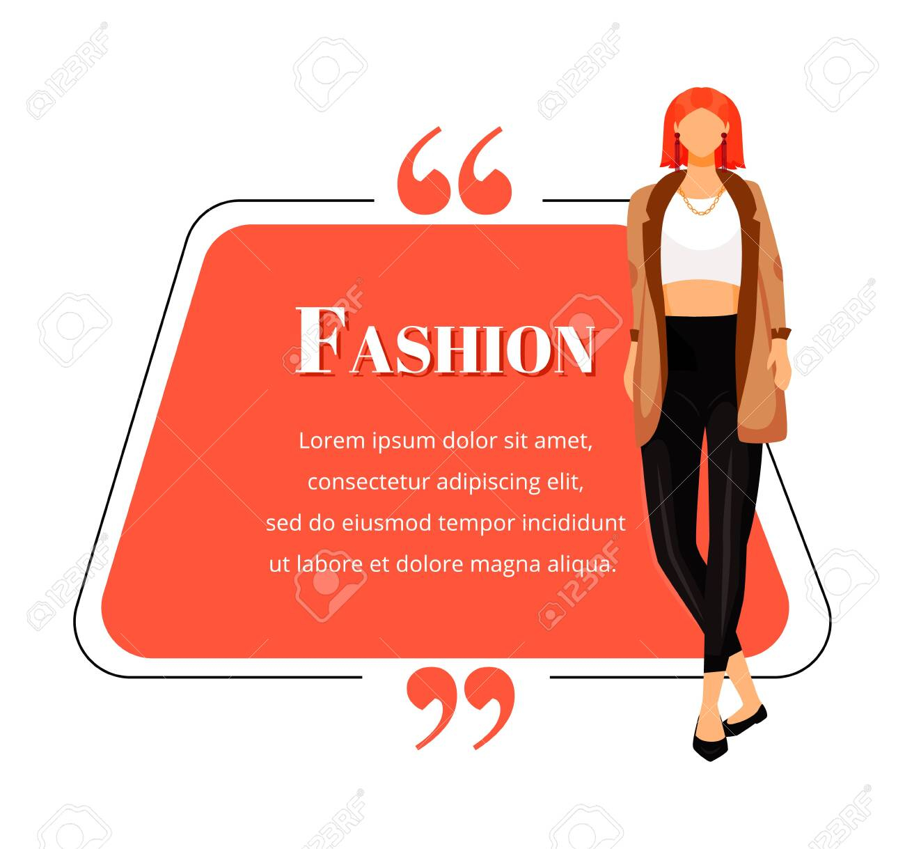 Fashion Designer Flat Color Vector Character Quote Successful Royalty Free Cliparts Vectors And Stock Illustration Image 137934849