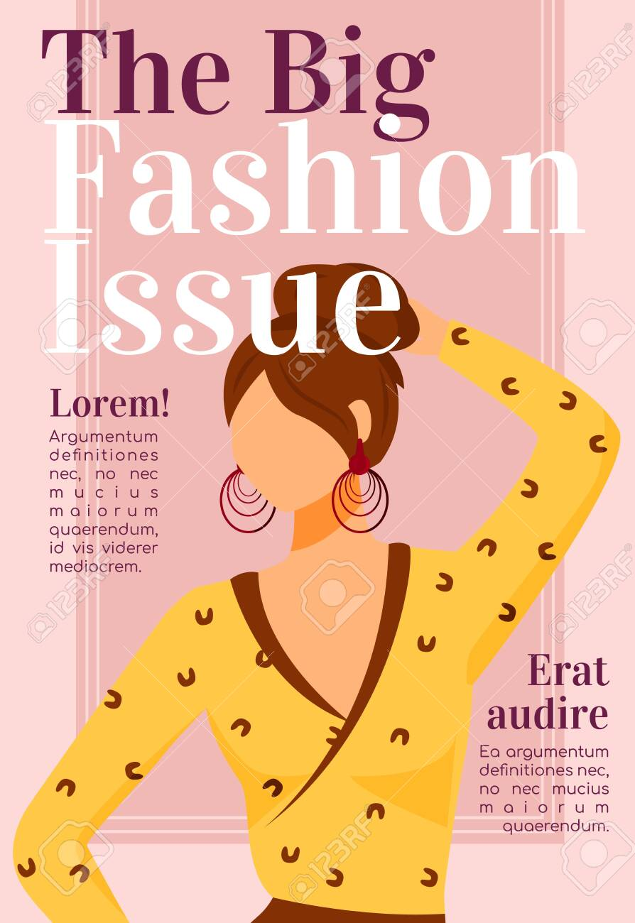 Fashion News Magazine Cover Template Design Issues Runway Models Royalty Free Cliparts Vectors And Stock Illustration Image 138457192