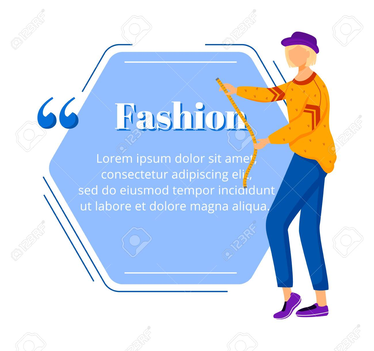 Fashion Designer Flat Color Vector Character Quote Individual Royalty Free Cliparts Vectors And Stock Illustration Image 138655549