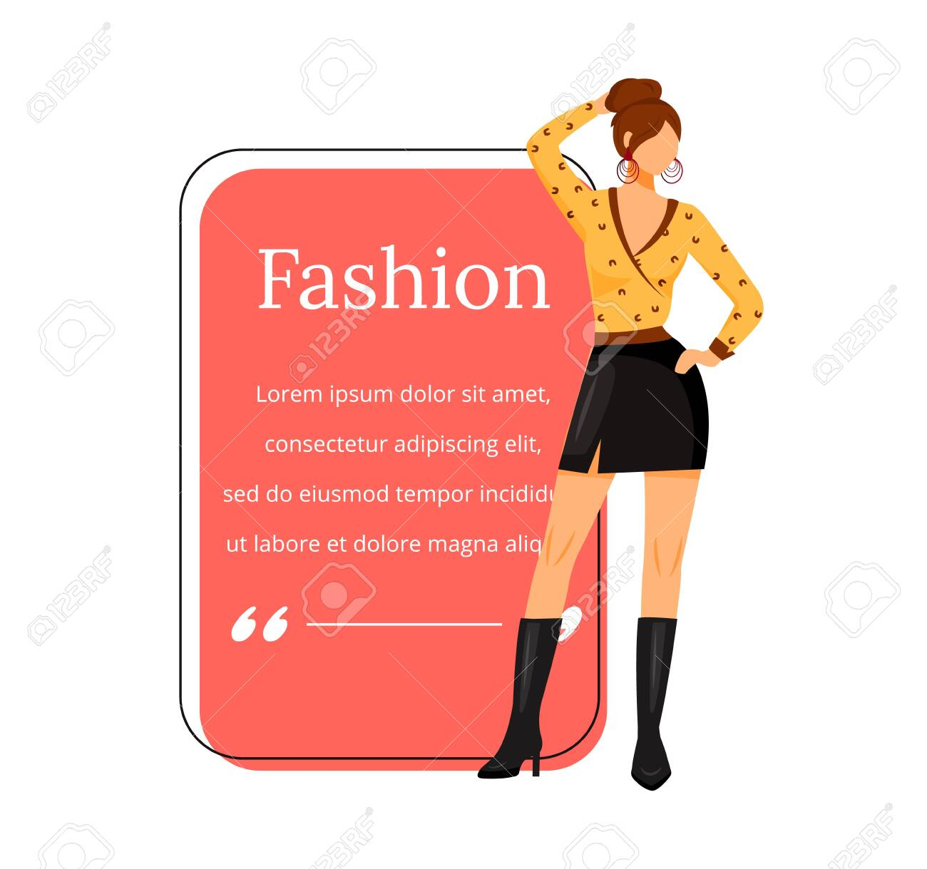 Fashion Designer Flat Color Vector Character Quote Individual Royalty Free Cliparts Vectors And Stock Illustration Image 138655748