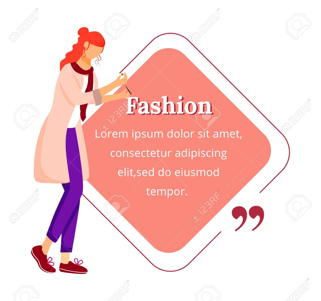 Fashion Designer Flat Color Vector Character Quote Individual Royalty Free Cliparts Vectors And Stock Illustration Image 138833532