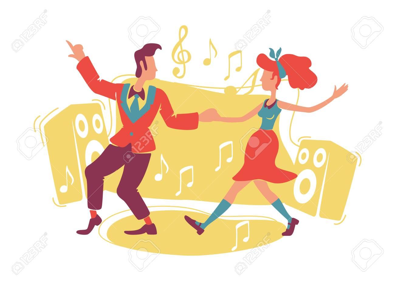Dancing Rock Roll Stock Illustrations – 1,595 Dancing Rock Roll Stock  Illustrations, Vectors & Clipart - Dreamstime