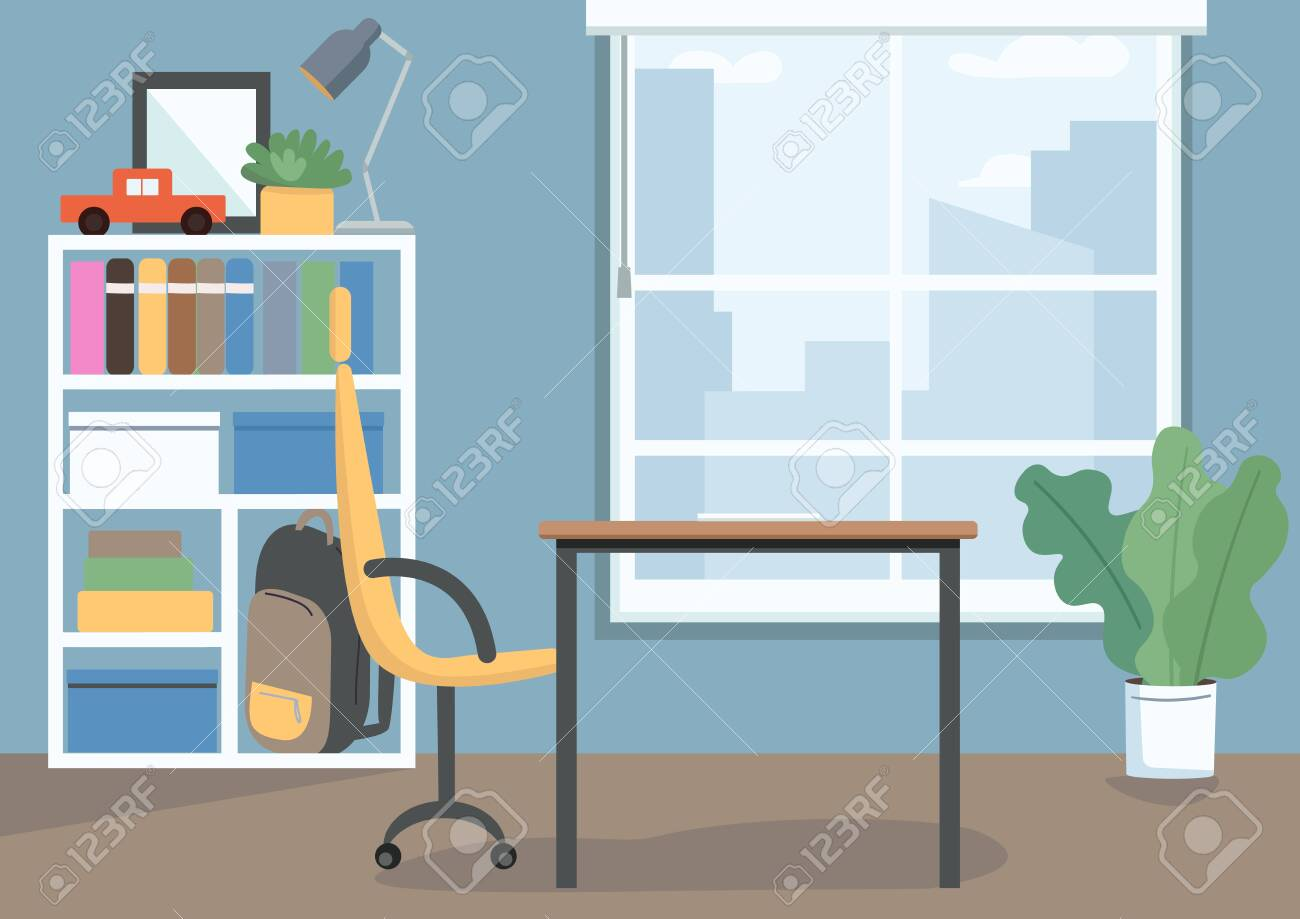 Image of: Childrens Bedroom Flat Color Vector Illustration Kids Room With Royalty Free Cliparts Vectors And Stock Illustration Image 144427177