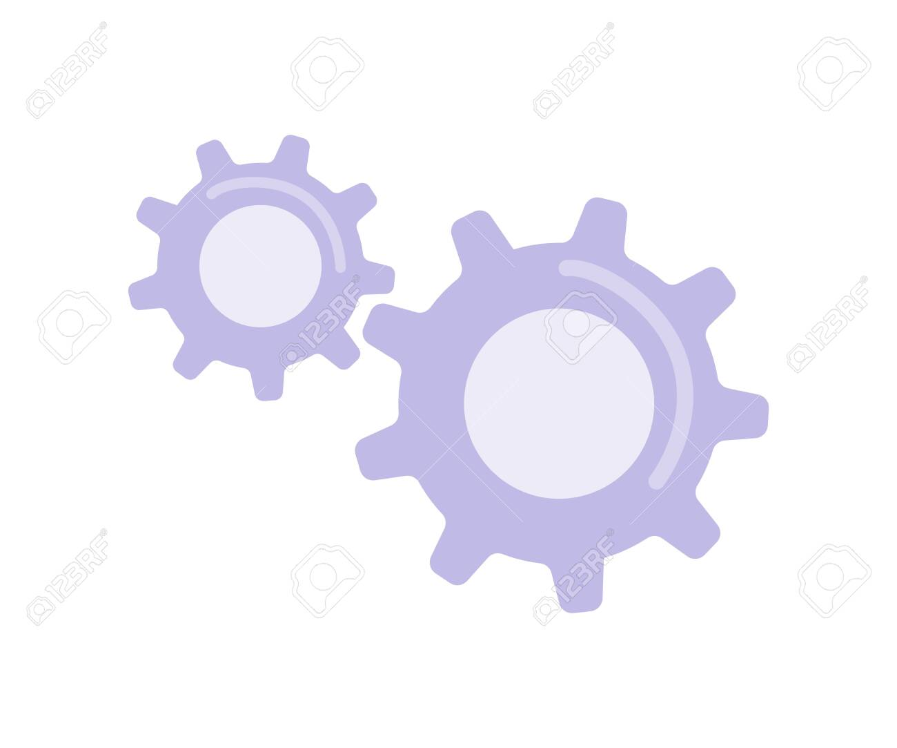Cogwheels flat color vector object. Gear in movement. Teamwork metaphor. Mechanical mechanism. Component for technology engineering isolated cartoon illustration for web graphic design and animation - 153332540