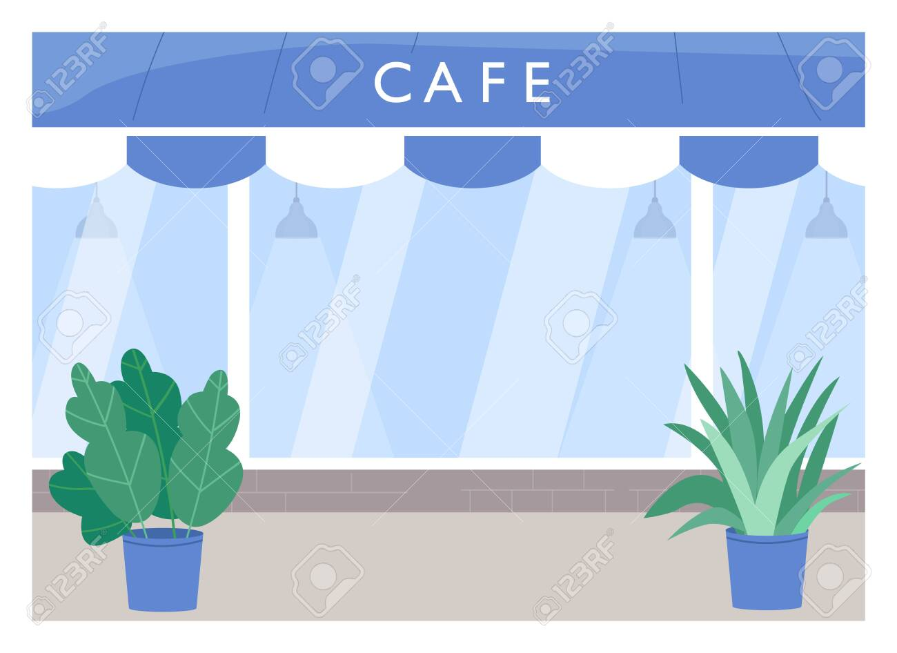 Cafe Exterior Flat Color Vector Illustration Coffee Shop With Royalty Free Cliparts Vectors And Stock Illustration Image 153279665
