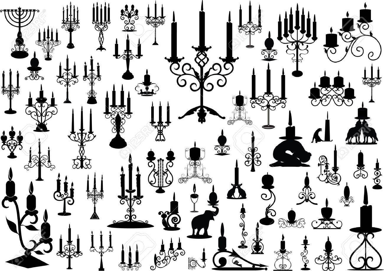Vector collection of isolated candlesticks Stock Vector - 10574013