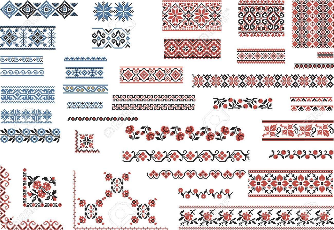 Set of Patterns for Embroidery Stitch - 30073340