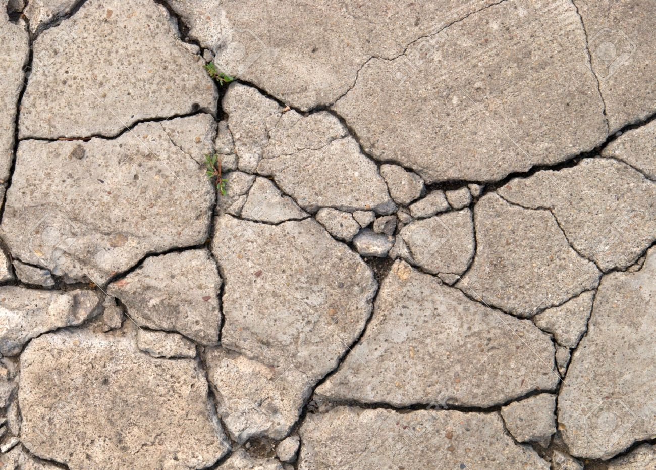 old grey cement background in cracks - 16324492